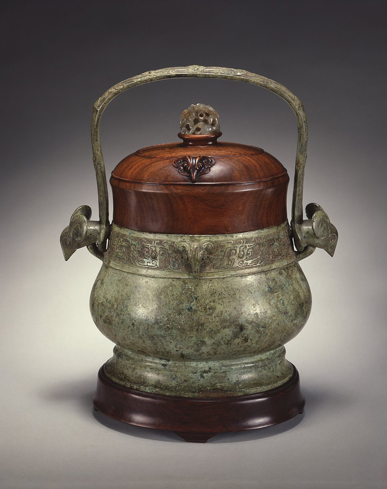 a chinese bronze ritual wine vessel you western zhou dunasty