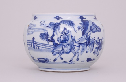 A CHINESE BLUE AND WHITE JAR, Kangxi (1662-1722)