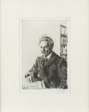 ANDERS ZORN, A ZORN ETCHING OF AUGUST STRINDBERG, 1860 – 1920