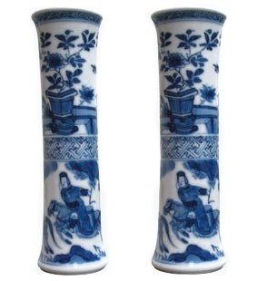 PAIR OF CHINESE MINIATURE VASES, Kangxi (1662-1722)
