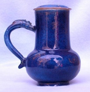 A CHINESE POWDER BLUE TANKARD AND COVER, Kangxi (1662-1722)
